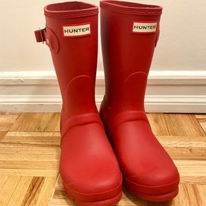 NEW: Hunter Rain Boots / Color: Red / Size: US 8